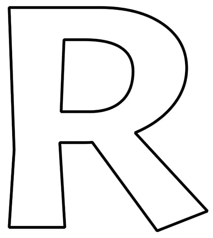 Playful image throughout letter r printable
