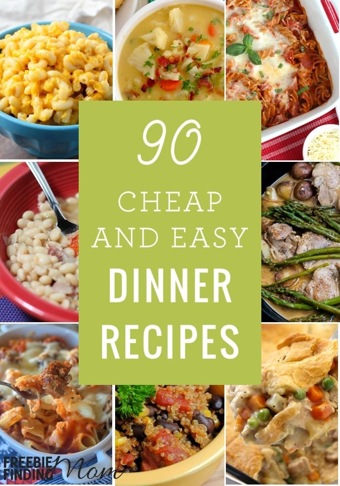 Cheap easy quick healthy recipes