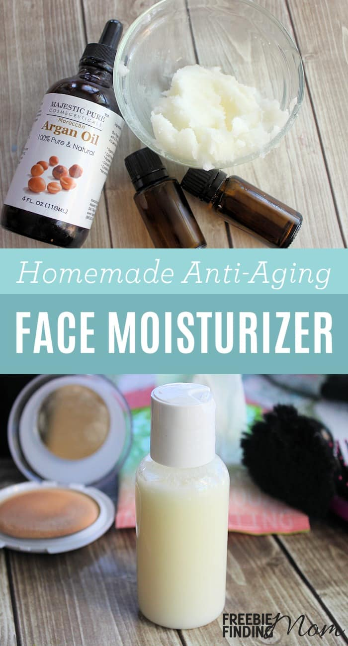 Forget those expensive anti-aging face moisturizers loaded with unnatural ingredients, give your skin a hearty dose of hydration and fight the signs of aging with this all natural Homemade Face Moisturizer. Homemade face moisturizer recipes like this are easy to make, inexpensive and effective. This DIY beauty recipe requires only four ingredients: coconut oil, Argan oil, and two essential oils (Frankincense and Geranium) that when combined create a powerful moisturizer with anti-aging properties, antioxidants, and vitamin E. Not only will your skin look rejuvenated, but this homemade beauty recipe will sooth, soften and protect your skin as well.