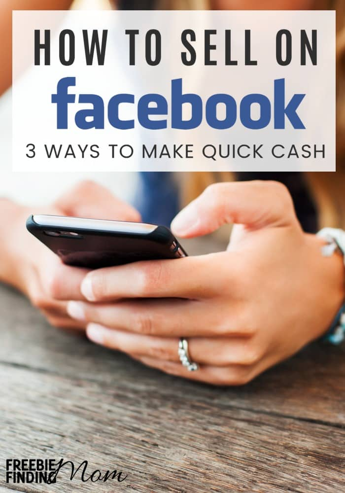 Do you need work from home ideas to make quick cash? Here you'll learn how to sell on Facebook to family and friends, in a Facebook group and through the Facebook Marketplace. By selling unwanted items on Facebook you can tap into Facebook's huge reach to make extra money and declutter at the same time. It's a win-win!