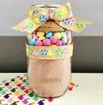Easy Easter Cookies: Homemade Easter M&M Cookies in a Jar