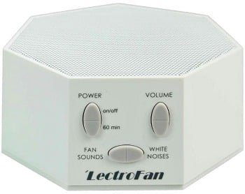 amazon save 41 on a lectrofan white noise machine. Black Bedroom Furniture Sets. Home Design Ideas