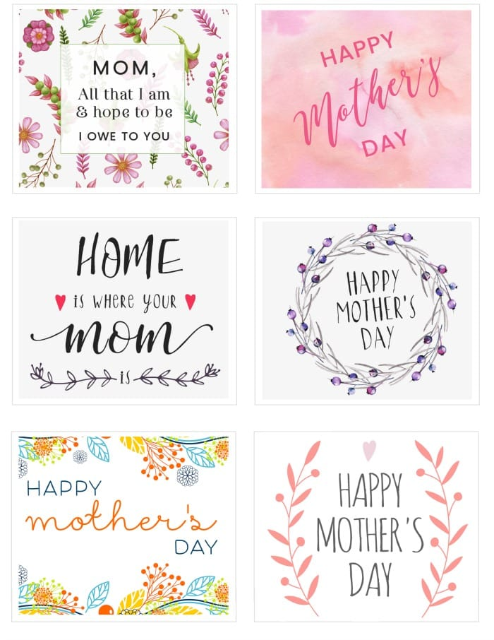 It is a picture of Resource Mother's Day Printables Free