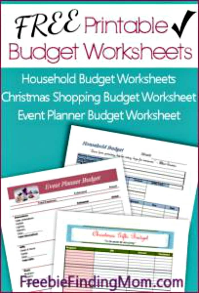 This is a photo of Nifty Free Printable Budget Worksheet