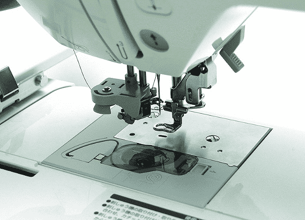 Close up of the 5×7 Inch Brother Embroidery Machine in action