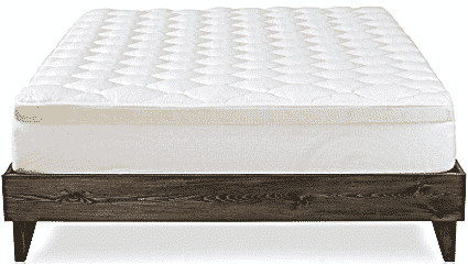 Double thick mattress pad topper