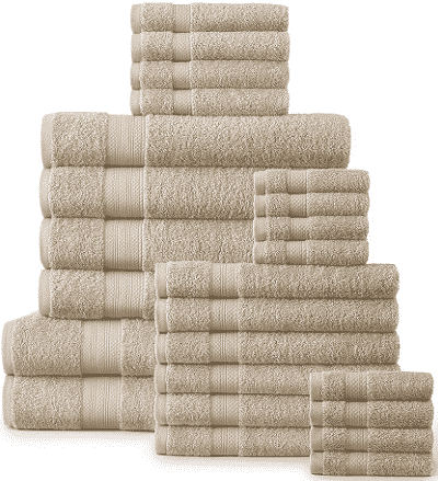 24-Piece 500 GSM Towel Set