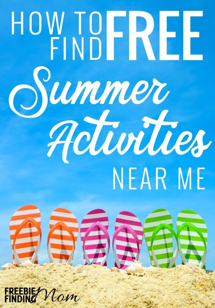 "Don't you hate hearing ""I'm bored, there's nothing to do during the summer?"" To help combat the kids' cries of boredom here is a list of 15 easy ways to find Free Summer Activities Near Me. Whether you are looking for summer activities for toddlers near me or older kids (preschoolers, tweens, teens etc.), you should be able to find lots of options to choose from such as movies, outdoor activities, reading programs and more. This lengthy list is loaded with helpful ideas on where to look for fun free summer activities for kids."