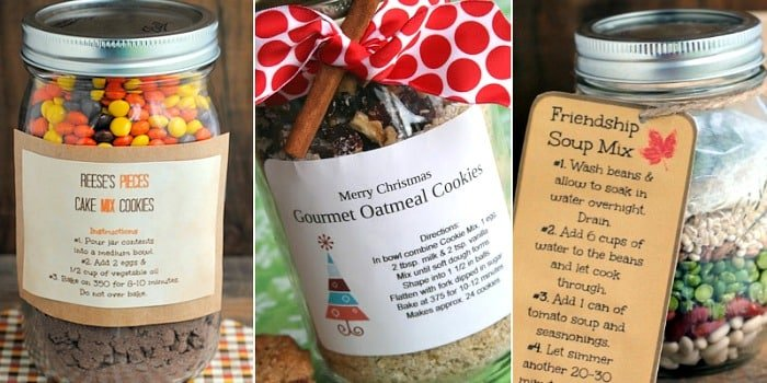 Mother's Day gifts using Mason jars food