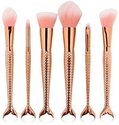 6-Piece Mermaid Shape Makeup Brush Set