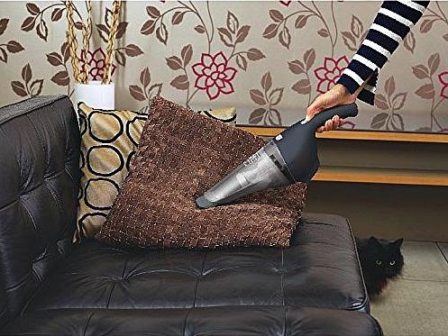 Black+Decker Compact Lithium Hand Vacuum in use