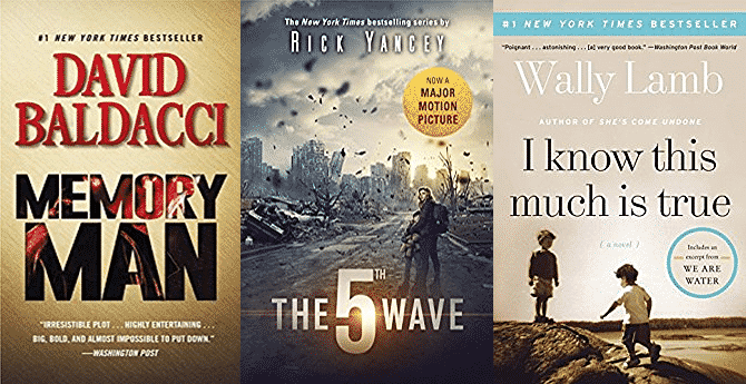 Memory Man (Amos Decker series) by David Baldacci, The 5th Wave by Rick Yancey, I Know This Much Is True: A Novel (P.S.) by Wally Lamb