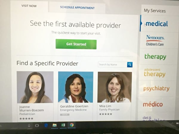 Select an Amwell provider