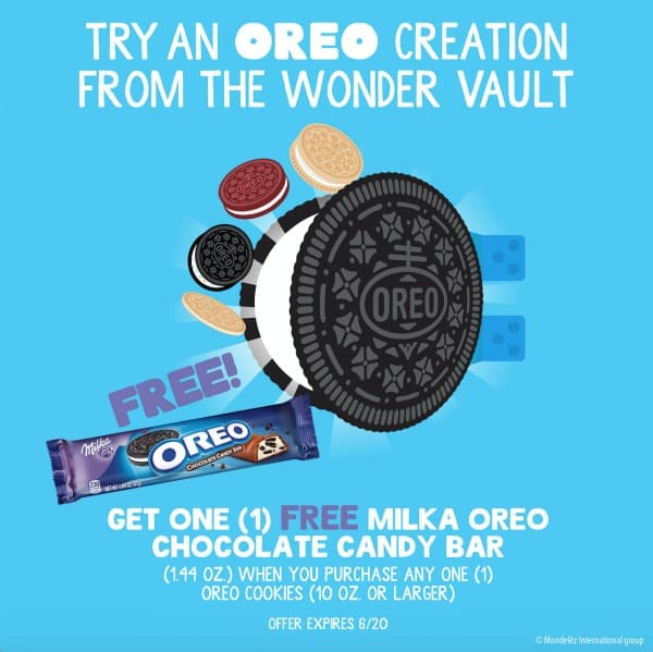 MILKA OREO Chocolate Candy Bar