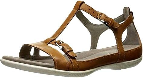 ECCO Women's Flat T-Strap Sandal