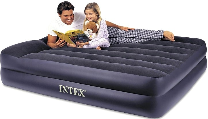 Intex Pillow Rest Airbed with Built-In Electric Pump