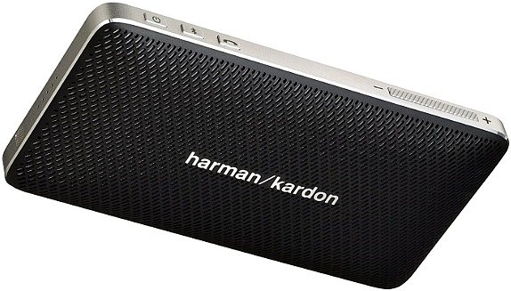 front of Harman Kardon Esquire Mini Black Esquire Mini Speaker