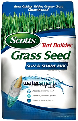 3-Pound Scotts Turf Builder Grass Seed – Sun and Shade Mix