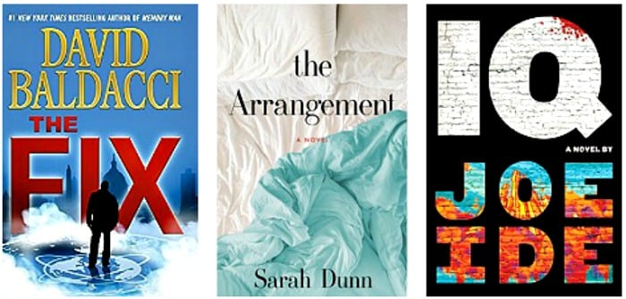 The Arrangement: A Novel by Sarah Dunn, The Fix (Amos Decker series Book 3) by David Baldacci, IQ by Joe Ide