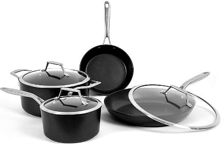 7-Piece TECHEF Onyx Collection Nonstick Cookware Set