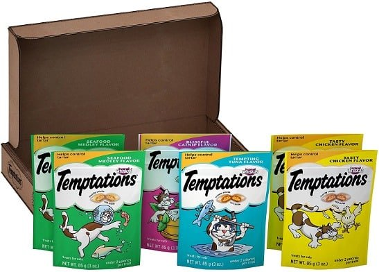 3-Ounce TEMPTATIONS Classic Treats for Cats Feline Favorites