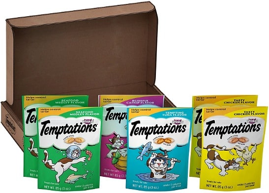 3-Ounce TEMPTATIONS Classic Treats for Cats Feline Favorites