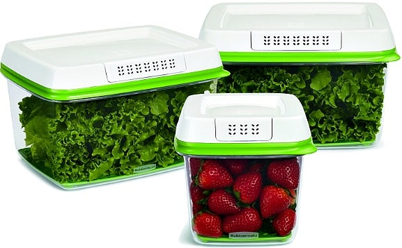 3-Piece Rubbermaid FreshWorks Food Storage Container Set