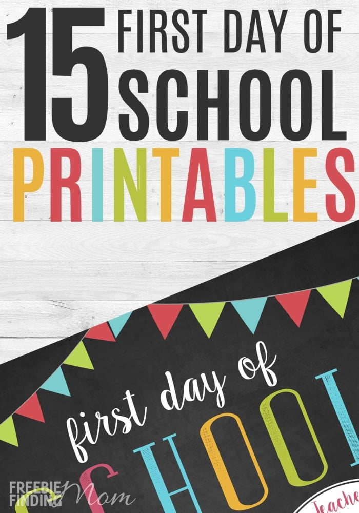 image relating to First Day of School Sign Printable referred to as 15 1st Working day of Higher education No cost Printables
