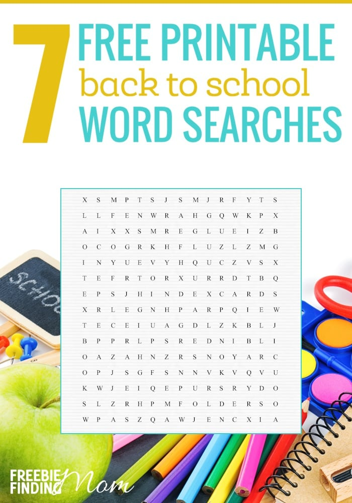 graphic regarding Free Printable Word Searches for Kids called 7 Free of charge Printable Again towards Faculty Phrase Queries