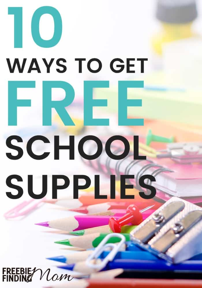 Need help crossing things off your back-to-school shopping list? Here are 10 ways to get free school supplies by mail, at the store, and more to help make the load on your wallet a little lighter. Take a few minutes to explore how you can get pencils, crayons, paper, glue, scissors etc. for FREE without a lot of effort or time.