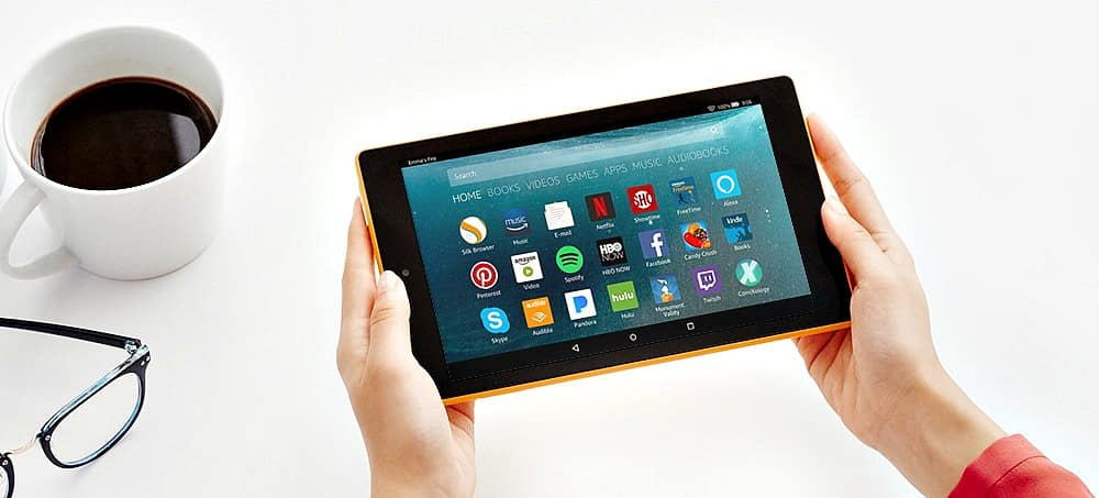 All-New Fire 7 Tablet with Alexa in use