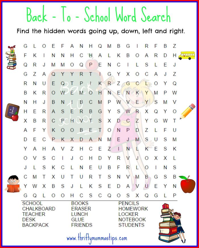 photo about School Word Search Printable named 7 Totally free Printable Again in direction of Faculty Phrase Queries