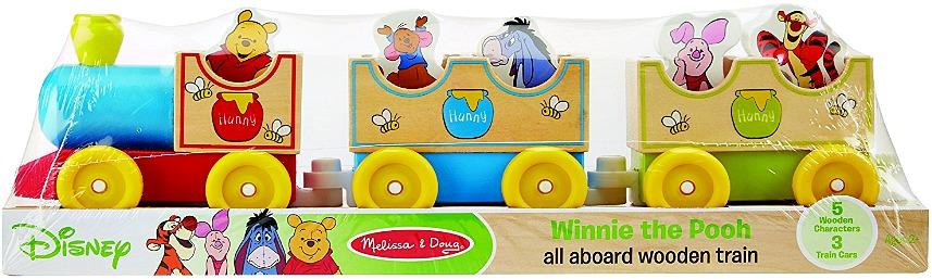 Melissa & Doug Disney Baby Winnie the Pooh All Aboard Wooden Train