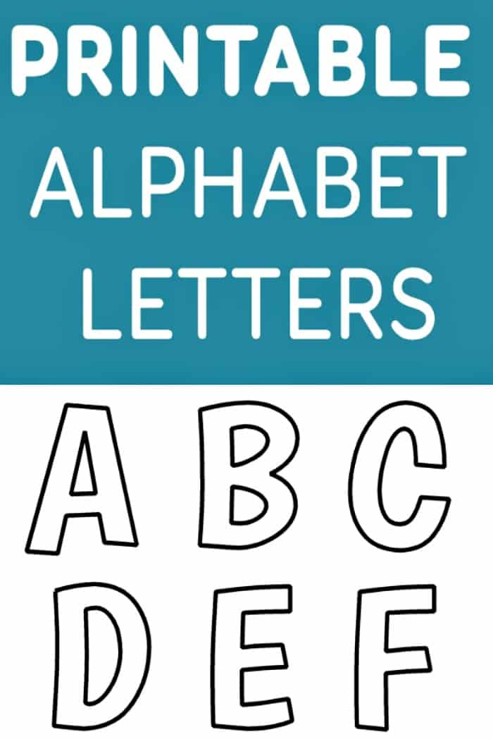 Printable Free Alphabet Template