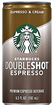 6.5 Ounce Starbucks Doubleshot, Espresso + Cream