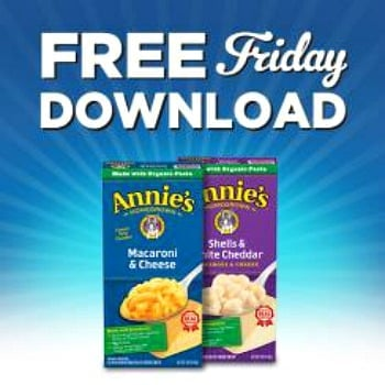 Kroger free Friday download for a free Annie's Natural Macaroni & Cheese