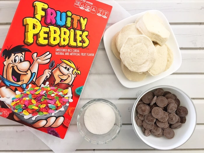 Fruity Pebbles donut fries ingredients