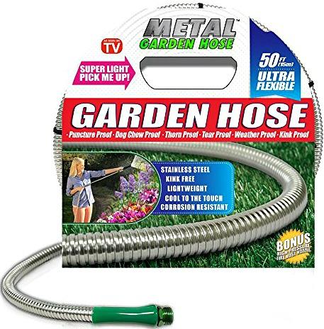 50 foot Metal Garden Hose