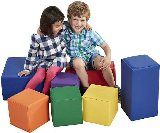 7-Piece ECR4Kids Softzone Foam Big Blocks Set