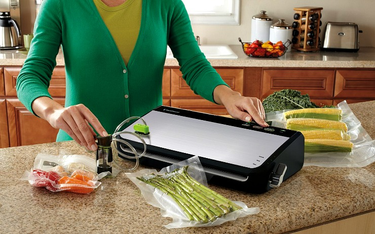 FoodSaver Vacuum Sealing System in use