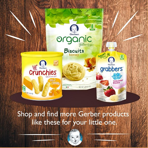 Gerber baby food products