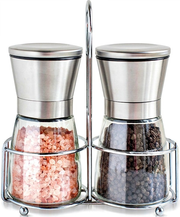 amazon salt grinder pepper mill set just regularly. Black Bedroom Furniture Sets. Home Design Ideas