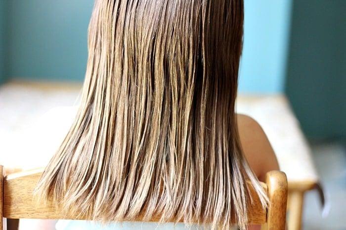 Hot Hair Oil Treatment Step 2