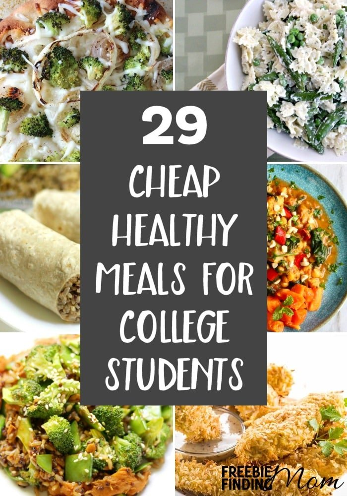 Tired of eating cafeteria food? These 29 Cheap Healthy Meals For College Students are not only easy to make and delicious, but they are packed with nutrients that busy college students need as well. Here you'll find vegetarian recipes, chicken recipes, seafood recipes, and beef recipes that could serve as cheap family meals too.