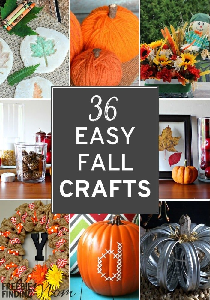 Need easy fall crafts inspiration? Here are 36 simple autumn crafts to make for all ages and skill levels. If you need fall crafts for kids, toddlers, preschoolers or adults we've got you covered. You'll find DIY fall wreaths, homemade pumpkin décor ideas and much more.