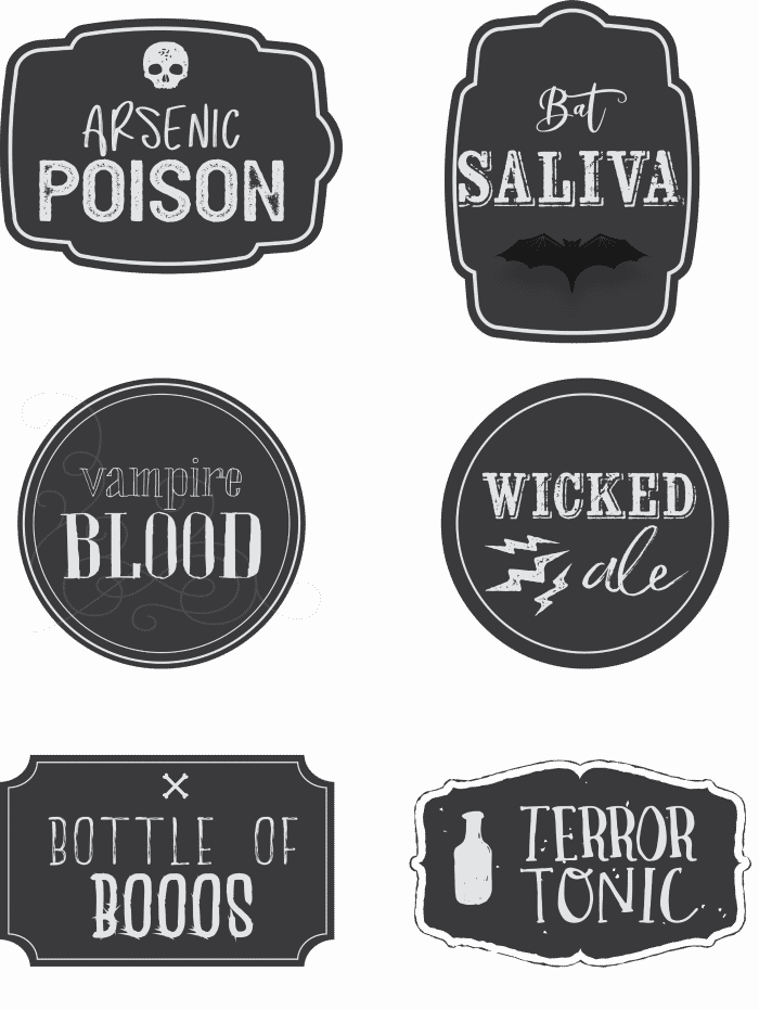 photo regarding Printable Halloween Labels titled No cost Printable Halloween Decorations: Free of charge Printable