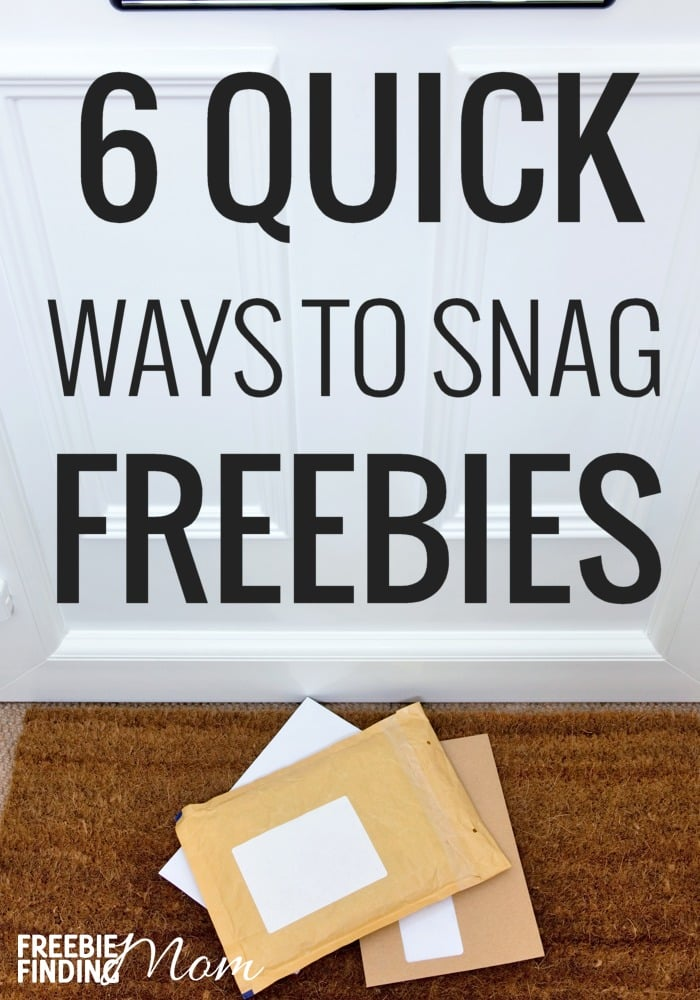 "Do you ever wonder ""How can I find free stuff near me?"" If so, you've come to the right place because here we share 6 Quick Ways To Snag Freebies. Everything from free food to free baby stuff to free printables you'll find out how to get free stuff around me…I mean you!"