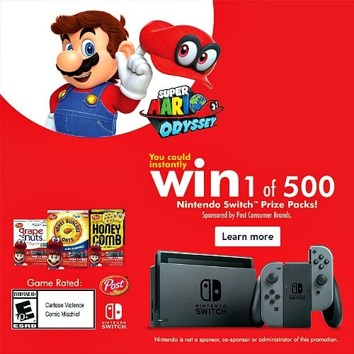 Nintendo Switch Prize Packs From Post