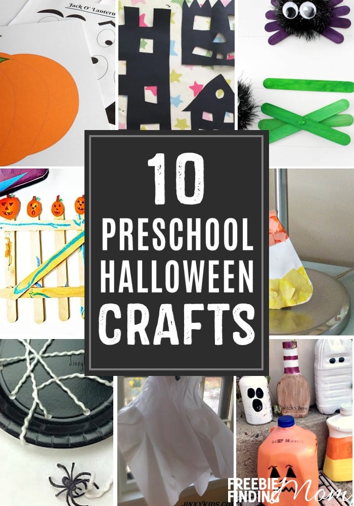 Are the kids excited for Halloween? A surefire way to ramp up the fun as the spooky day approaches is to have them make these 10 Preschool Halloween Crafts. These crafts aren't just for preschoolers. Nope, they could easily be kindergarten Halloween Crafts as well. You'll find Frankenstein hands, a Halloween spider kids craft, a five little pumpkins fingerprint craft, and more.