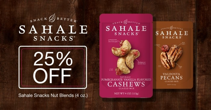 25% off any Sahale Snacks Nut Blend at Target